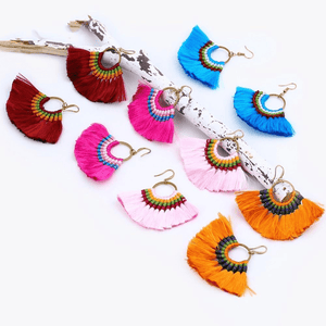 Boho Chic Tassel Earrings earrings WickedAF