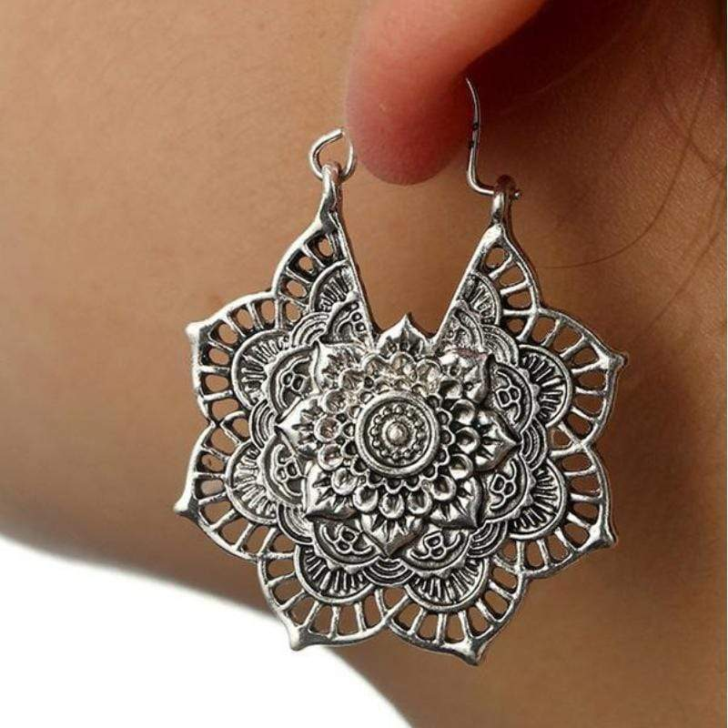 Mandala Drop Earrings earrings WickedAF