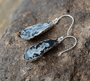 Natural Druzy Dangle Earrings earrings WickedAF