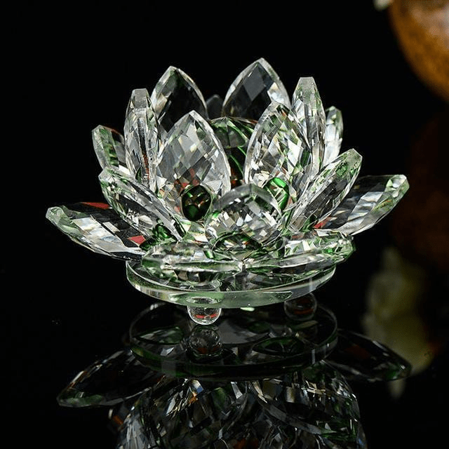 WickedAF figurine Quartz Crystal Lotus Flower