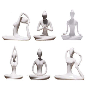 The Modern Yoga Lady Statues figurine WickedAF