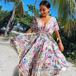 Floral Love Birds Maxi Dress WickedAF