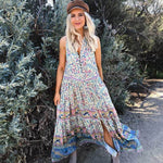 Floral Peacock Print Bohemian Dress WickedAF