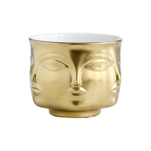 Buddha Head Plant Pot flower pot WickedAF Gold