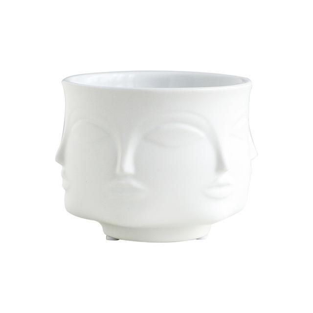 Buddha Head Plant Pot flower pot WickedAF White