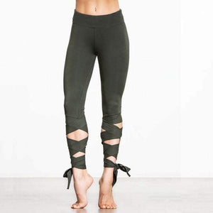 WickedAF Green / S Wrap Yoga Pants (4 Colors)