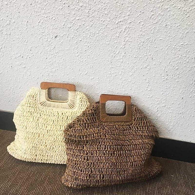 Gunni Knitted Straw Handbag WickedAF