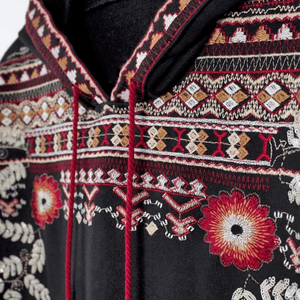 Embroidered Hippie Hoodie hoodie WickedAF
