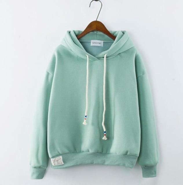 Thick Casual Hoodie (7 Colors) hoodie WickedAF Light Green One Size