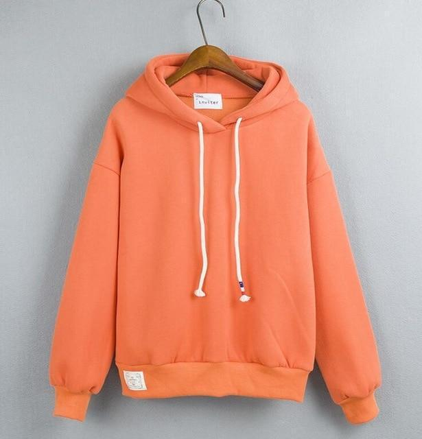 Thick Casual Hoodie (7 Colors) hoodie WickedAF Orange One Size