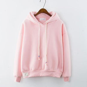 Thick Casual Hoodie (7 Colors) hoodie WickedAF Pink One Size