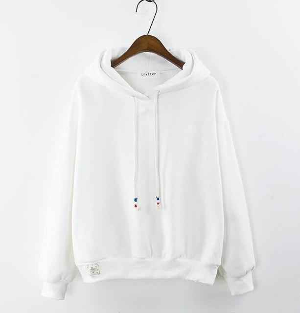 Thick Casual Hoodie (7 Colors) hoodie WickedAF White One Size