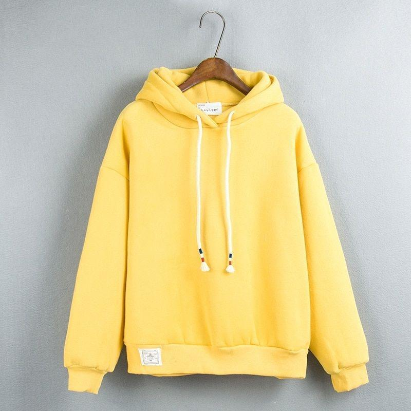 Thick Casual Hoodie (7 Colors) hoodie WickedAF Yellow One Size