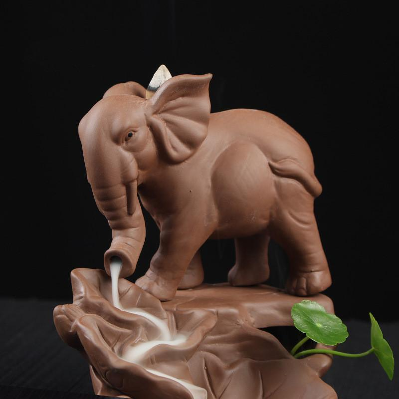 Elephant Lake Smoke Backflow Incense Burner incense burner WickedAF