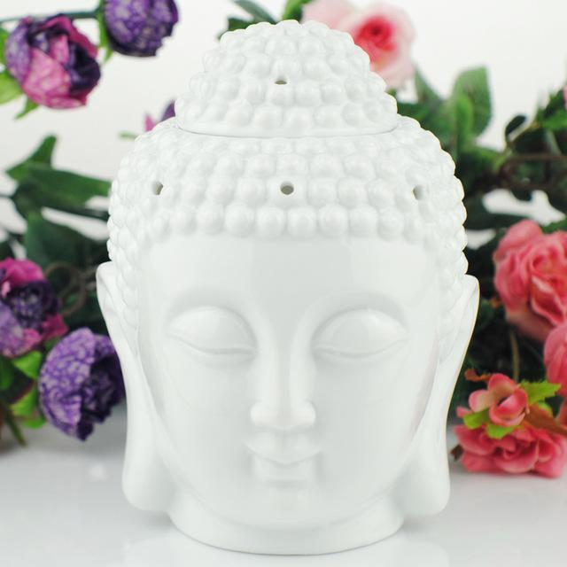 Tibet Buddha Incense And Oil Burner incense burner WickedAF white