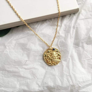 Zodiac Sign Coin Necklaces WickedAF Leo