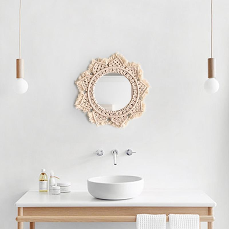 WickedAF macrame mirror Dahlia Cotton Macrame Mirror