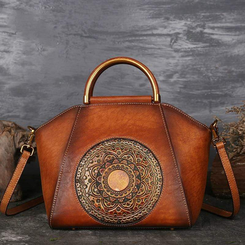 WickedAF Mandala Embossed Leather Bag
