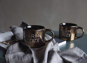 Warm and Cozy Gold Ceramic Mug Mugs WickedAF