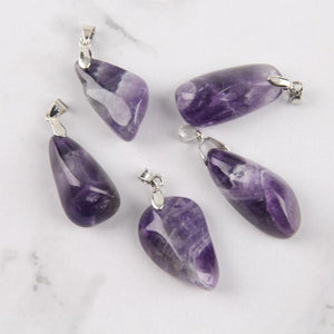WickedAF Necklace Natural Amethyst Crystal Pendant Necklace