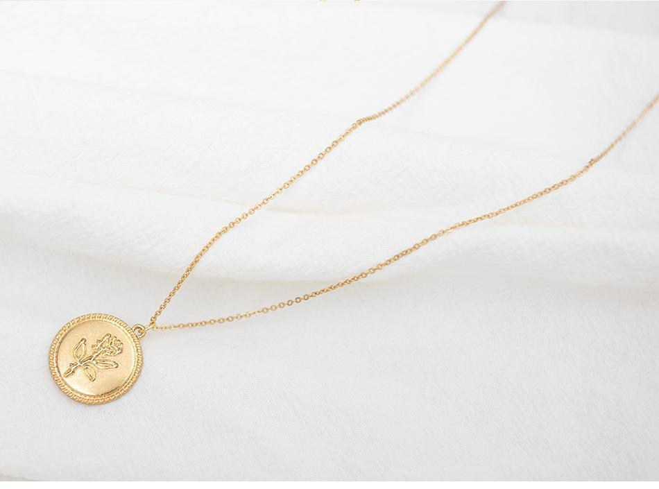 WickedAF Necklace Rose Coin Necklace
