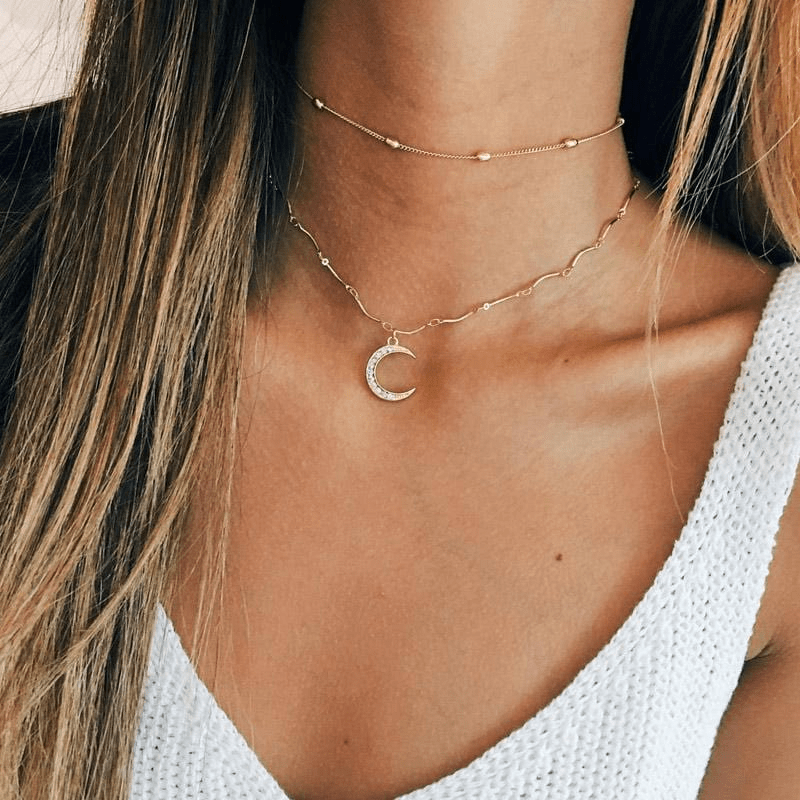Luna Moon Necklace Necklace WickedAF