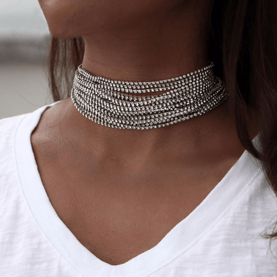 Crystal Choker Necklace Necklace WickedAF