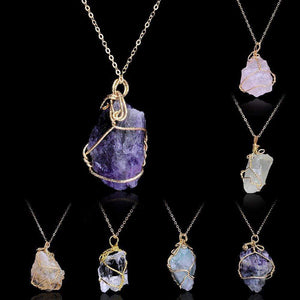 Crystal Chunk Wraps Necklace WickedAF