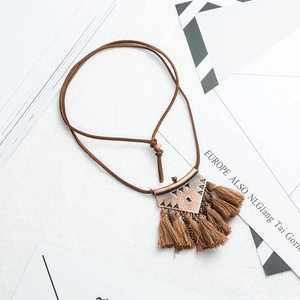Ethnic Tassel Necklace Necklace WickedAF