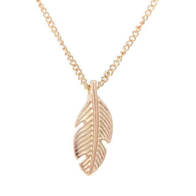 Light As A Feather Leaf Pendant Necklace Necklace WickedAF