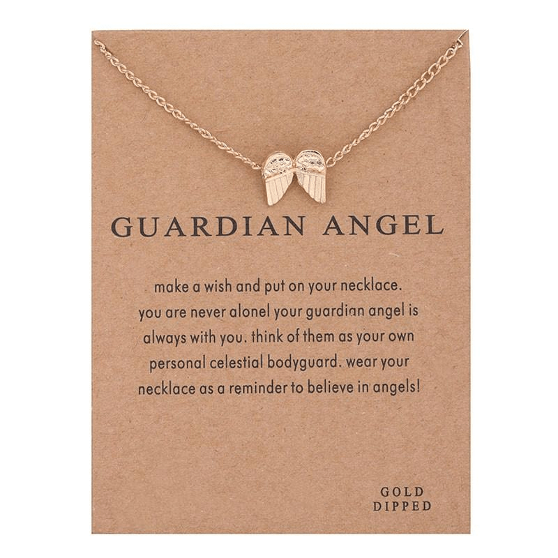Guardian Angel Pendant Necklace Necklace WickedAF Gold