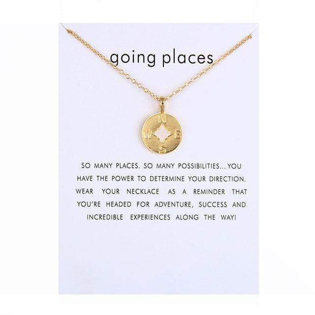 Going Places Charm Necklace Necklace WickedAF Gold