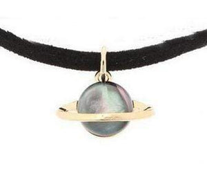 Space Choker Necklace Necklace WickedAF gray