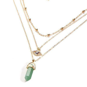 Eye Of Protection Stone Necklace Necklace WickedAF GREEN AVENTURINE