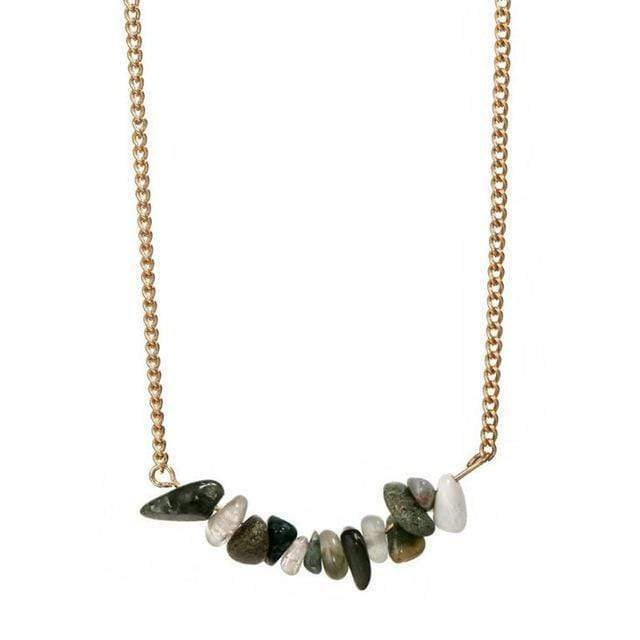 Natural Stone Choker Necklace Necklace WickedAF Green Aventurine