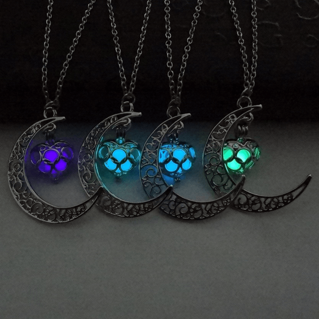 Moonlight Love Glow In The Dark Pendant Necklace Necklace WickedAF