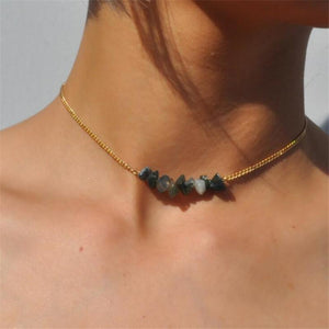 WickedAF Necklace Natural Stone Choker Necklace