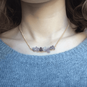 Natural Stone Choker Necklace Necklace WickedAF