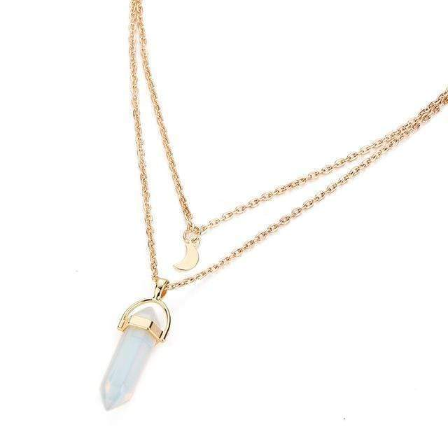 Natural Crystal Choker Pendant Necklace necklace WickedAF OPALITE