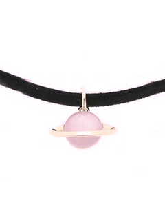 Space Choker Necklace Necklace WickedAF pink