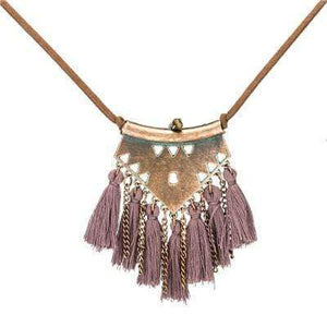 Ethnic Tassel Necklace Necklace WickedAF purple