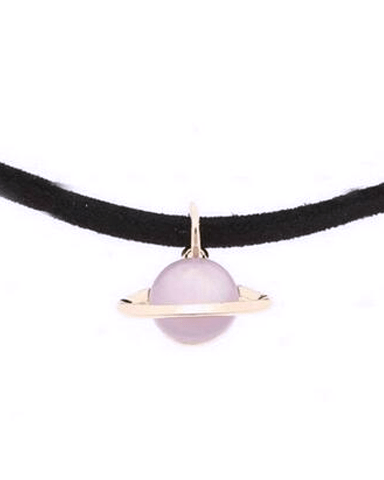 Space Choker Necklace Necklace WickedAF purple