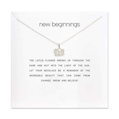 New Beginnings Charm Necklace Necklace WickedAF Silver