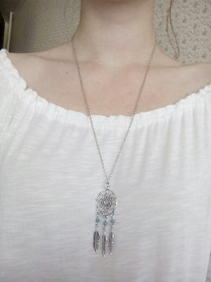 Dream Catcher Pendant Necklace Necklace WickedAF