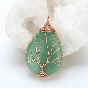 WickedAF necklace Tree Of Life Wire Wrapped Crystal Necklace