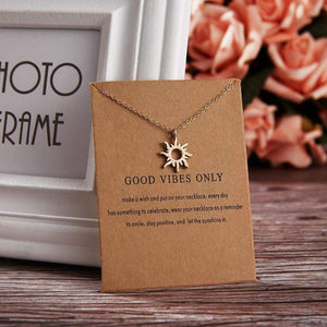 Good Vibes Only Charm Necklace necklace WickedAF
