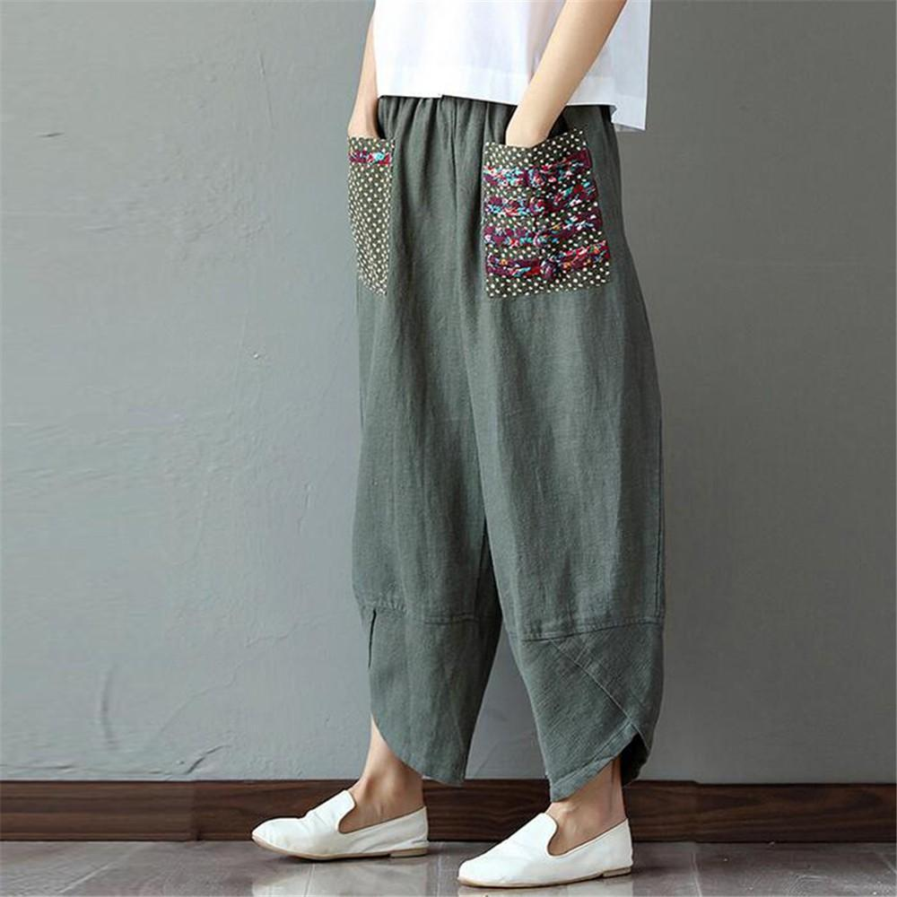 Patchwork Pocket Harem Pants (2 Colors) pants WickedAF