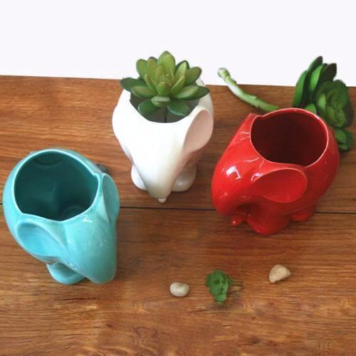 Colorful Elephant Plant Pots plant pot WickedAF