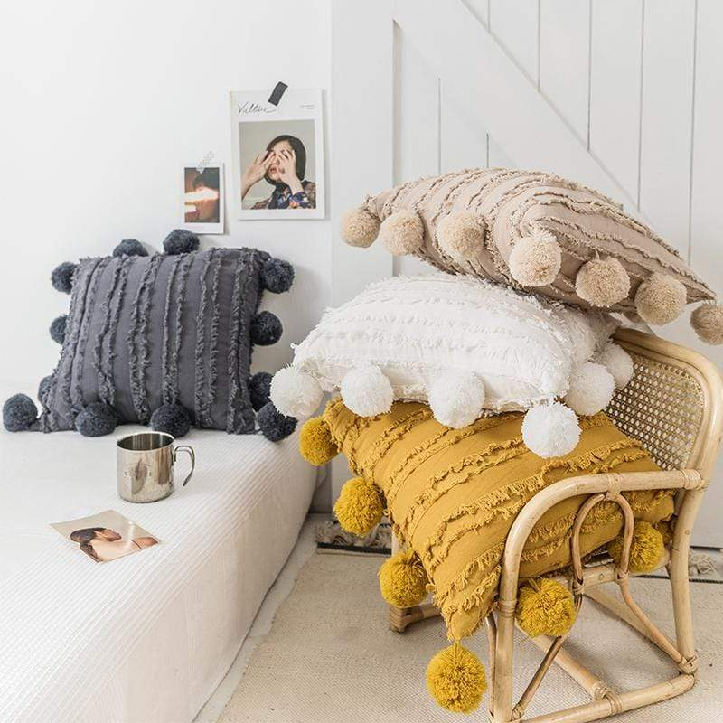 WickedAF Pom Pom Pillow Cover