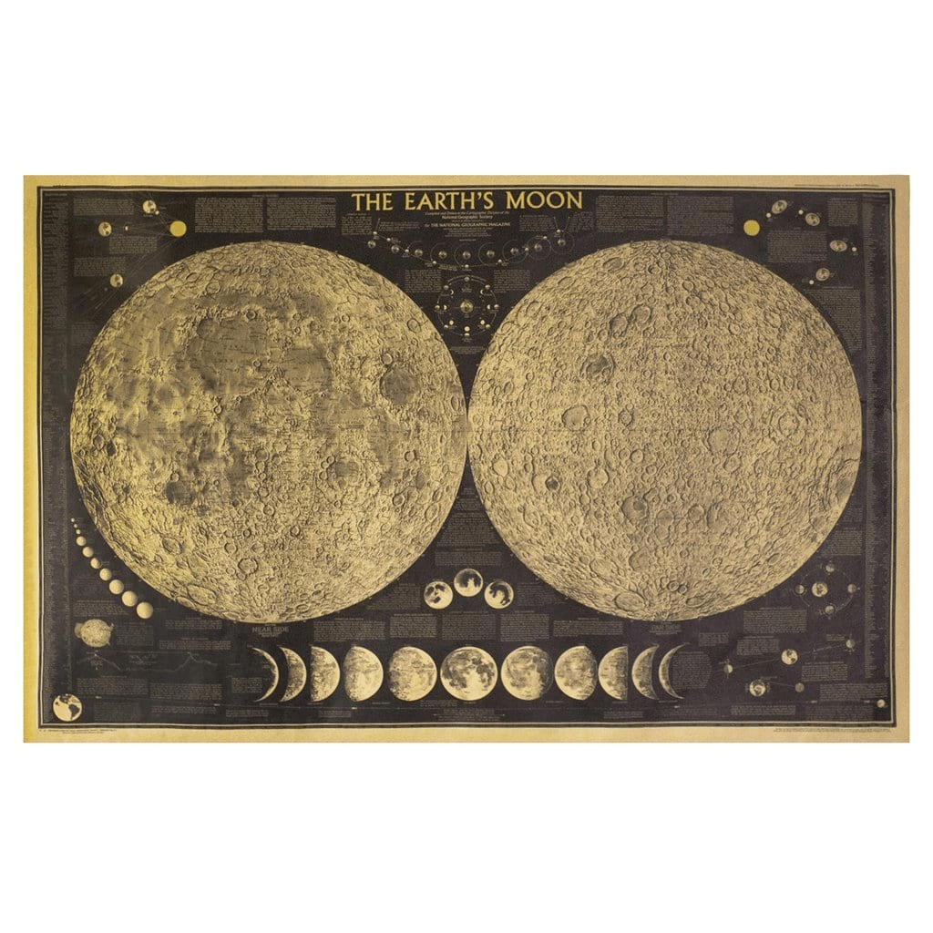 Earth's Moon Vintage Poster poster WickedAF